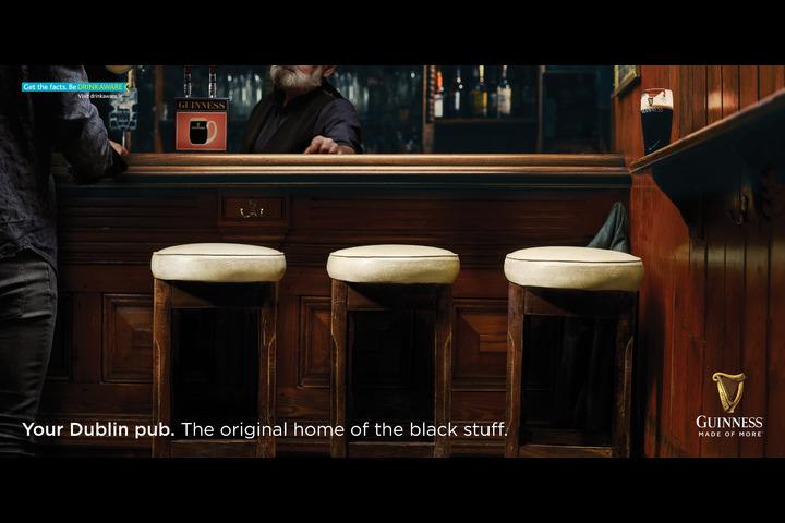 Dublin Pubs: Stools & Divider - Guinness - Guinness + Dublin Pubs