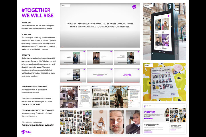 #Together we will rise - Campaign - Telco operator (B2B) - Telia Finland