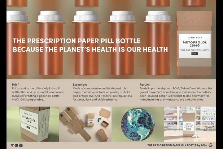 The Prescription Paper PIll Bottle - Package Design - The Prescription Paper PIll Bottle