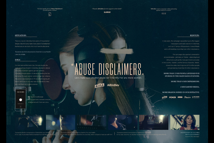 Abuse Disclaimers - - Aguila