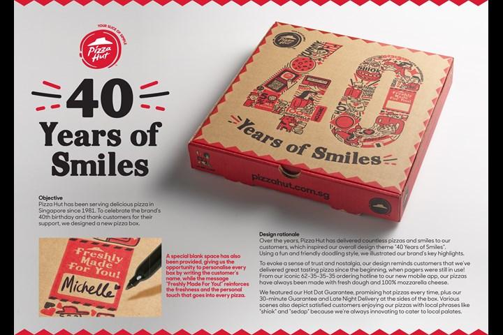 Pizza Hut 40 years Anniversary Box - Pizza - Pizza Hut