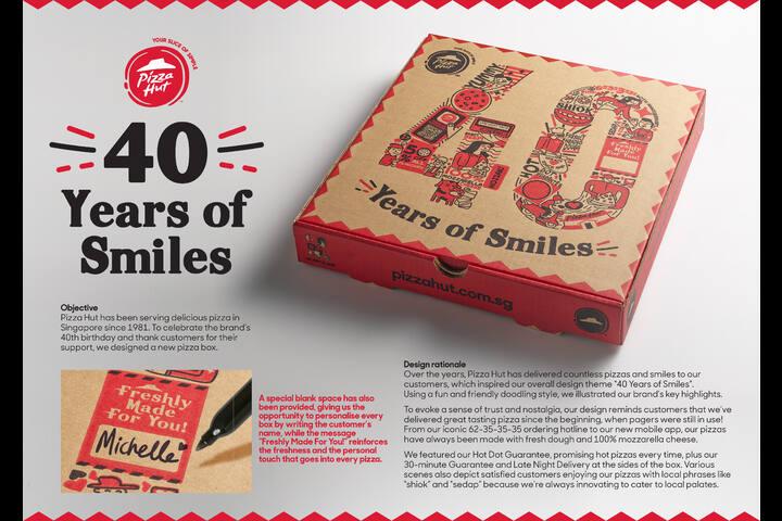 Pizza Hut 40 years Anniversary Box - Pizza Hut - Pizza