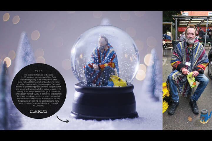 The No Shelter Snow Globe - NGO - Hus Forbi