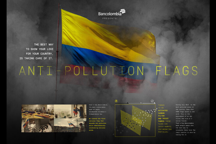 Anti Pollution Flags - Grupo Bancolombia - Bancolombia