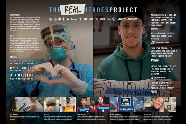 #TheRealHeroes Project - Sports United - MLB, MLS, NFL, NHL, NBA, WNBA, ATP, WTA, NWSL, USGA, NASCAR, Activision, EA, WWE