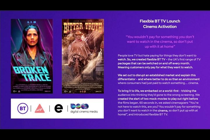 BT TV Launch: Cinema Activation - BT TV - BT