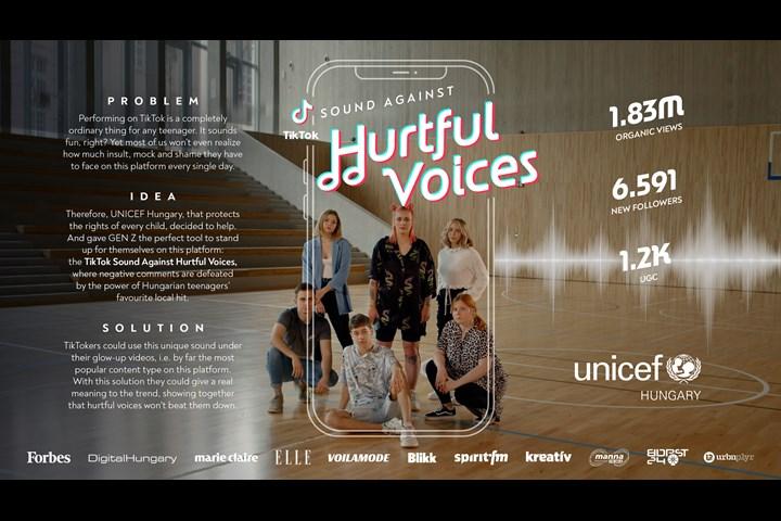 TikTok Sound Against Hurtful Voices - UNICEF Hungary - UNICEF Hungary