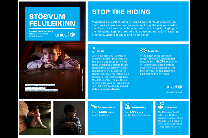Stöðvum feluleikinn / Stop the Hiding - Relief work - Unicef Iceland