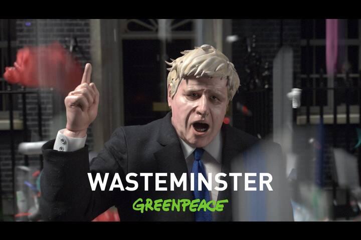 Greenpeace 'Wasteminster' - - Greenpeace