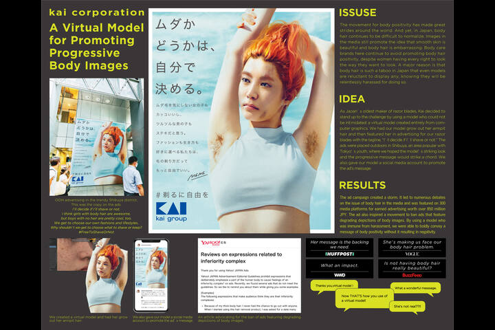 A Virtual Model for Promoting Progressive Body Images. - razor - Kai Corporation