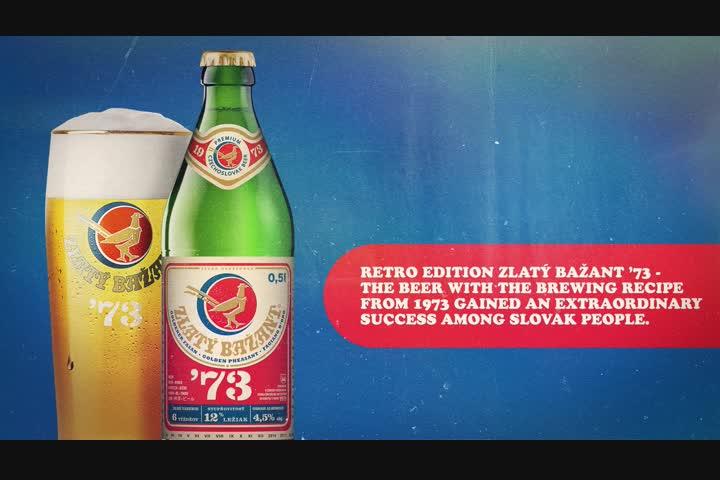 Hit of 1973 - beer - Zlatý Bažant