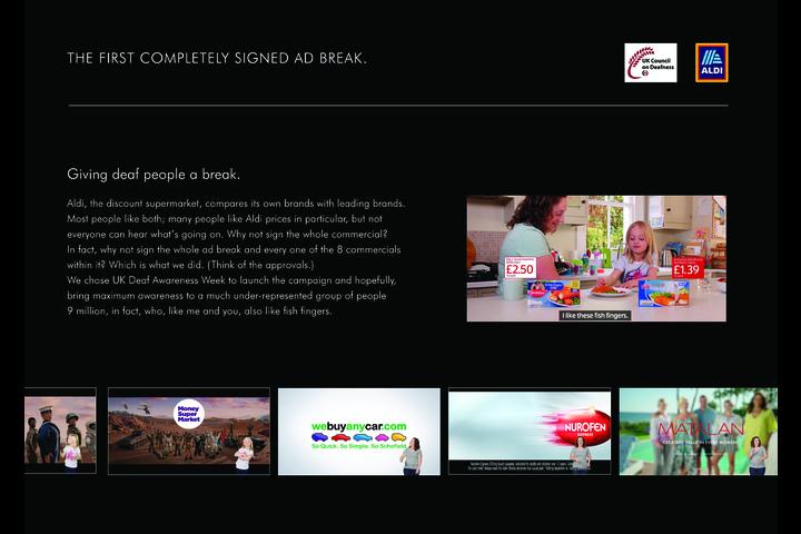 Giving Deaf People a Break - Aldi - Aldi