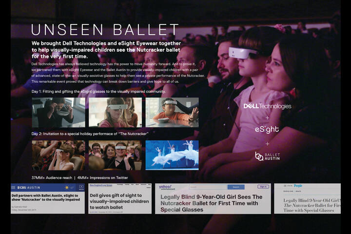 Unseen Ballet - E-Sight Glasses - Dell Technologies
