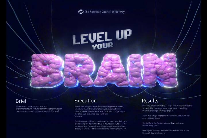 Level Up Your Brain - The Research Council of Norway - The Research Council of Norway