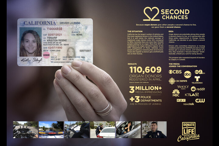 Second Chances - Organ Donation - Donate Life California