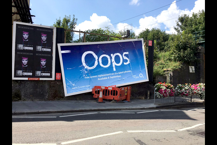 Oops - O2 - Free Screen Replacement