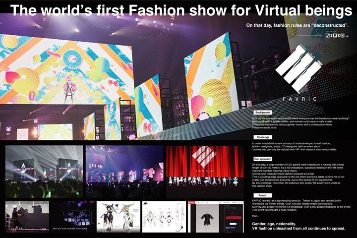 Fashion Show for Virtual Being - GirlsAward inc. - GirlsAward inc.