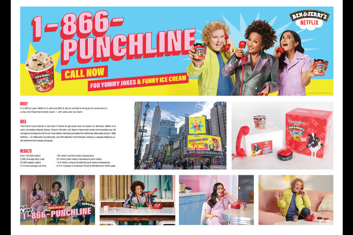 Punch Line Hotline - Netflix is a Joke and Punch Line Ice Cream - Netflix and Ben & Jerry's