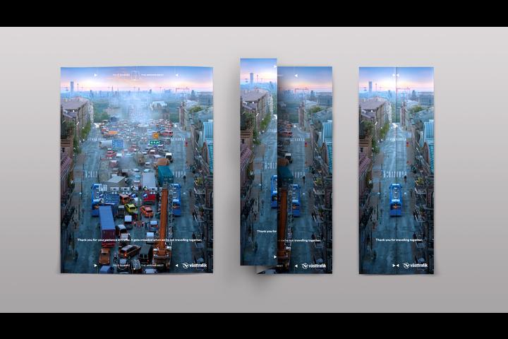 Traffic Folding Ad - Public transport - Västtrafik