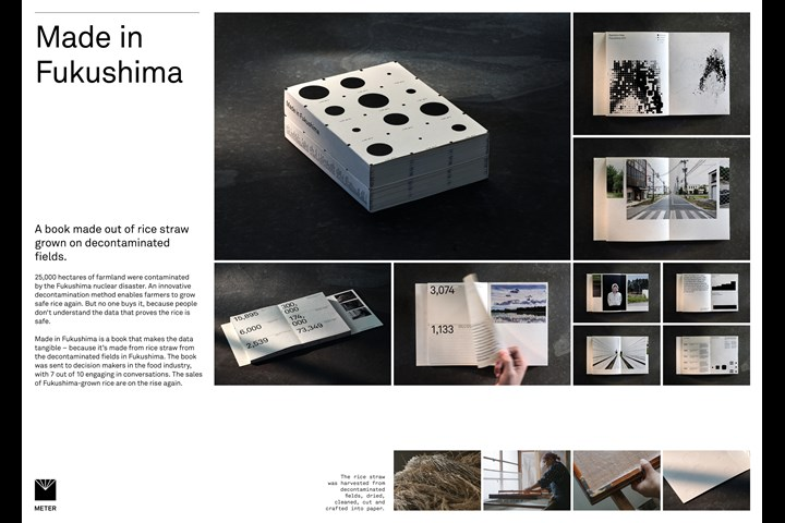 Made in Fukushima. A book made out of rice straw grown on decontaminated farmland. - METER Enviroment - METER Group
