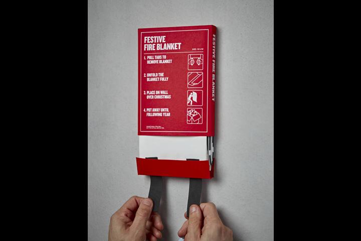 Festive Fire Blanket - Promotional Fire Blanket - Pencil Studio