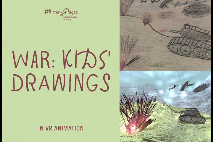 War: Kids Drawings in VR Animation - Social media project - RT