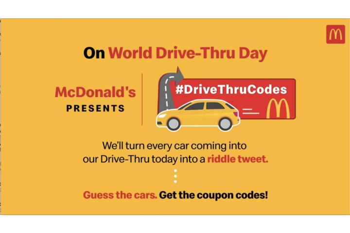 Drive Thru Codes - HRPL - McDonald's India