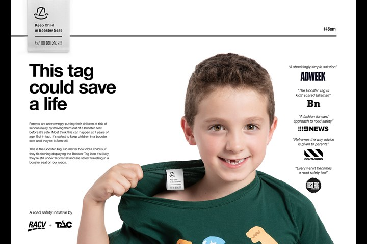 The Booster Tag - Road Safety - RACV and TAC