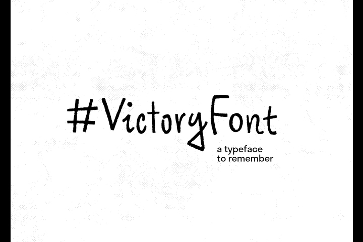 #VictoryFont: A Typeface To Remember - Typeface - RT