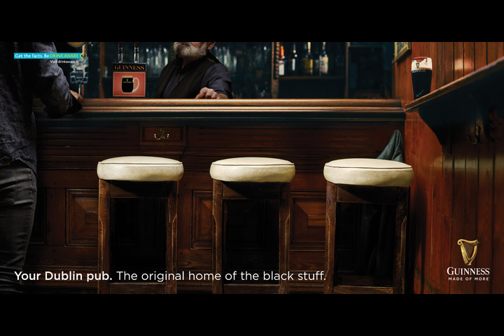 Dublin Pubs: Stools - Guinness - Guinness + Dublin Pubs
