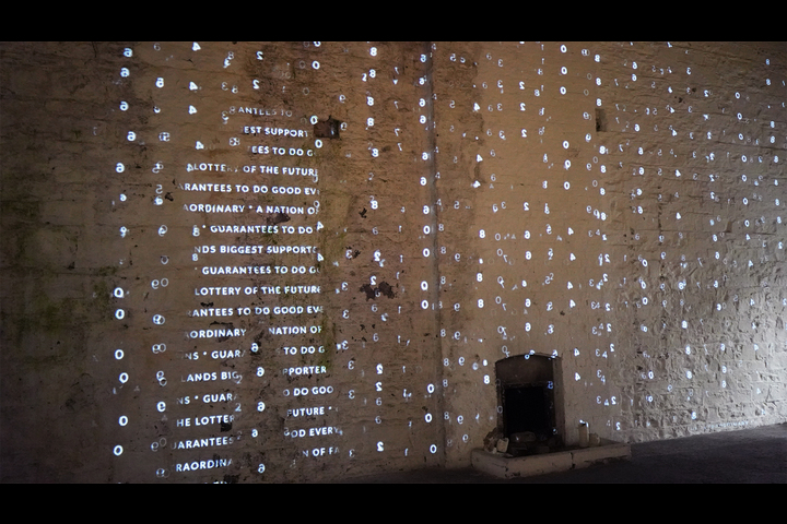 Scratch The Surface - Irish National Lottery - Interactive typographic wall
