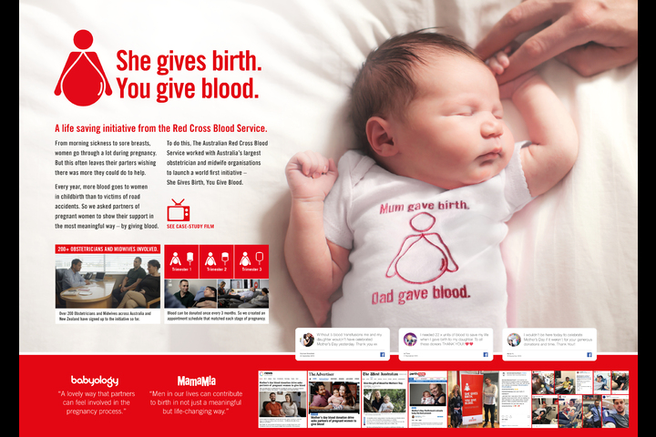 She Gives Birth, You Give Blood - - The Australian Red Cross Blood Service