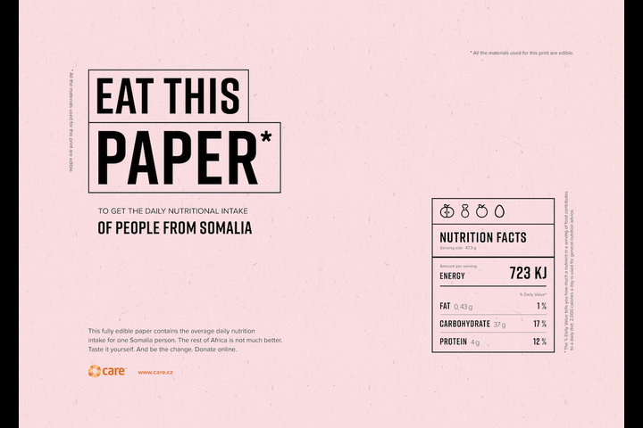 Eat This Paper - Charity - CARE International