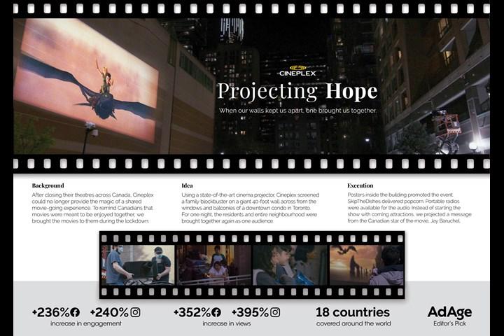 Projecting Hope - Cineplex - Cineplex