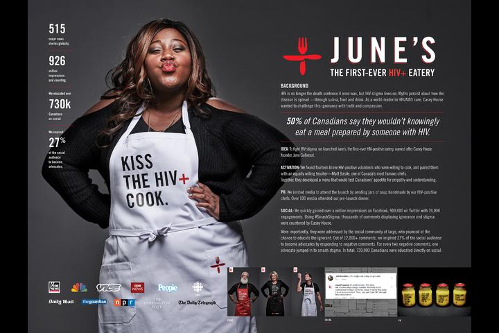 Break Bread Smash Stigma - Casey House - June's HIV+ Eatery