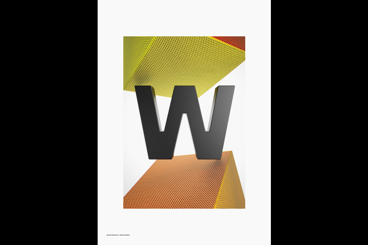 Wordbits — 3D Alphabet Magnet font - Wordbits - 3D Alphabet Magnet font
