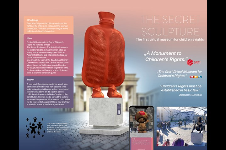 The Secret Sculpture - Charitable organization for child protection - German child protection Association