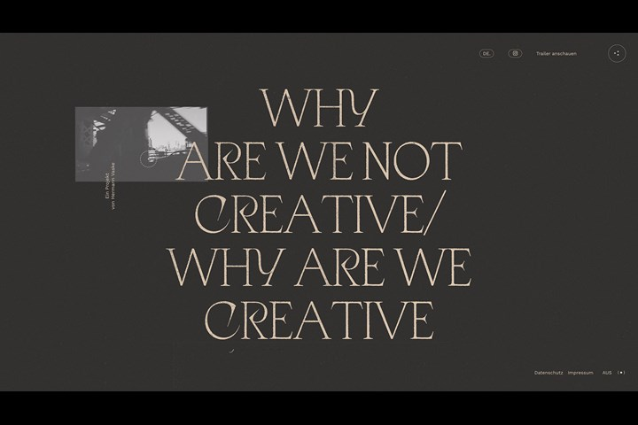 Why are you (not) creative? - Website - Emotional Network