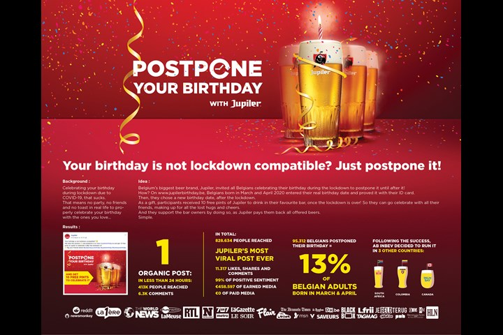 Postpone your Birthday - Jupiler - Jupiler