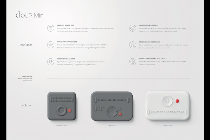 Dot Mini. The First Smart Media Device for the Visually Impaired. - Dot Mini - Dot Inc.